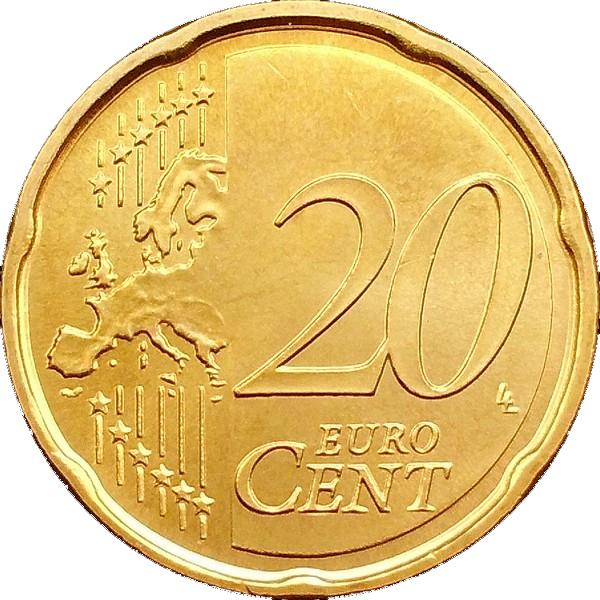 20 Euro Cent (2nd map) - San Marino – Numista
