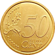 50 Euro Cent (2nd map) -  reverse