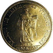 1 Scudo (Resumption of Coinage) -  reverse