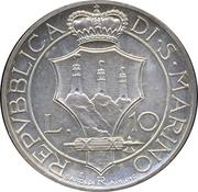 10 Lire (Trial Strike) – reverse