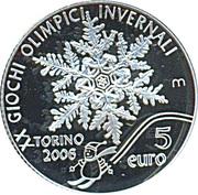 5 Euro (2006 Turin Olympics) -  reverse