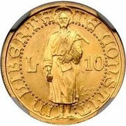 10 Lire (Prova) – reverse