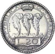 20 Lire (Prova) – reverse