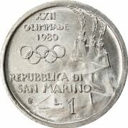 1 Lira (Gymnastics) – obverse