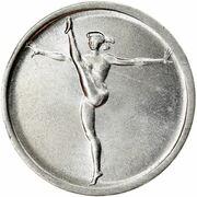 1 Lira (Gymnastics) – reverse