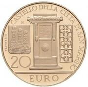 20 Euro (Castle of San Marino) -  obverse