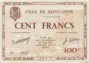 Cent Francs - Bon municipal de la ville de Saint-Omer [62] – obverse