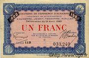 1 franc - Chambre de Commerce d'Auxerre [89] – obverse