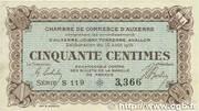 50 centimes - Chambre de Commerce d'Auxerre [89] -  obverse