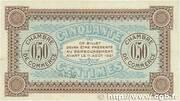 50 centimes - Chambre de Commerce d'Auxerre [89] -  reverse