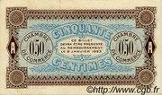 50 centimes - Chambre de Commerce d'Auxerre [89] – reverse