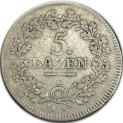 5 Batzen – reverse