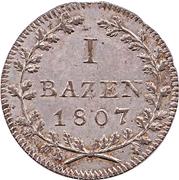 1 Batzen – reverse