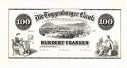 100 Francs (Toggenburger Bank) – obverse