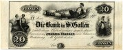 20 Francs (Bank in St. Gallen) – obverse
