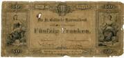 50 Francs (St. Gallische Kantonalbank) – obverse
