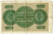 50 Francs (St. Gallische Kantonalbank) – reverse