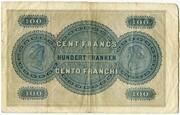 100 Francs (St. Gallische Kantonalbank) – reverse