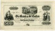 500 Francs (Bank in St. Gallen) – obverse