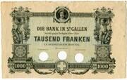 1000 Francs (Bank in St. Gallen) – obverse