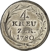 4 Kreuzer - Beda Angehrn – reverse