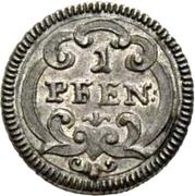 1 Pfennig - Beda Angehrn – reverse
