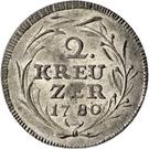 2 Kreuzer - Beda Angehrn – reverse