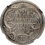 30 Kreuzer / ½ Gulden – reverse