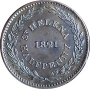½ Penny (British East India Company) – reverse