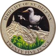 25 Pence - Elizabeth II (Bird Life - Albatross) -  reverse