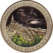 25 Pence - Elizabeth II (Bird Life - Bulwer's Petrel) – reverse