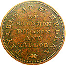 ½ Penny (Solomon, Dickson and Taylor) – obverse
