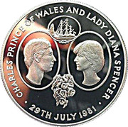 25 Pence - Elizabeth II (Wedding of Prince Charles and Lady Diana) – obverse