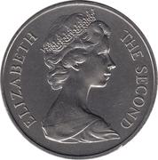25 Pence (Tercentenary of restored British Rule) – obverse