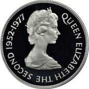 25 Pence - Elizabeth II (Silver Jubilee; Silver Proof Issue) – obverse