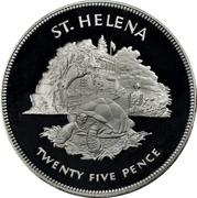 25 Pence - Elizabeth II (Silver Jubilee; Silver Proof Issue) – reverse