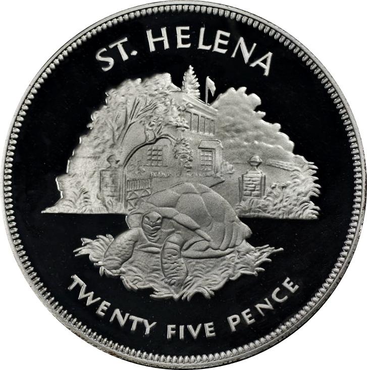Crown Queen Elizabeth II Silver Jubilee 1977 St.Helena Coin 25 Pence