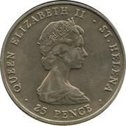25 Pence - Elizabeth II (Royal Wedding) – obverse