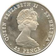 25 Pence - Elizabeth II (Wedding of Prince Charles and Lady Diana) – obverse