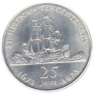 25 Pence - Elizabeth II (Discovery; Silver Proof Issue) – reverse