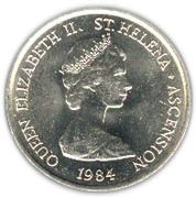 5 Pence - Elizabeth II (2nd portrait; large type) – obverse