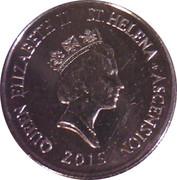 5 Pence - Elizabeth II (3rd portrait; small type; magnetic) – obverse