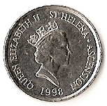 5 Pence - Elizabeth II (3rd portrait; small type) – obverse