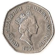 50 Pence - Elizabeth II (3rd portrait; small type) – obverse