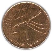 1 Penny - Elizabeth II (3rd portrait) – reverse