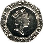 20 Pence - Elizabeth II (3rd portrait) – obverse