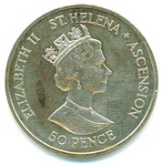 50 Pence - Elizabeth II (Royal Wedding) – obverse