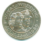 50 Pence - Elizabeth II (Royal Wedding) – reverse