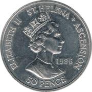 50 Pence - Elizabeth II (Napoléon's Death) – obverse