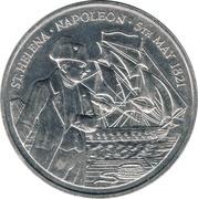 50 Pence - Elizabeth II (Napoléon's Death) – reverse